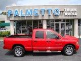 2005 Flame Red Dodge Ram 1500 SLT Quad Cab #70133250