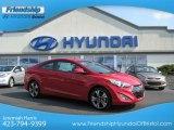 2013 Volcanic Red Hyundai Elantra Coupe SE #70132890