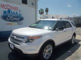 2013 White Platinum Tri-Coat Ford Explorer XLT #70132849