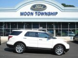 2013 White Platinum Tri-Coat Ford Explorer XLT 4WD #70133128
