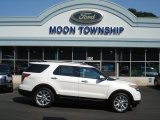 2013 White Platinum Tri-Coat Ford Explorer Limited #70133127