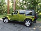 2010 Jeep Wrangler Unlimited Rescue Green Metallic