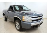 2007 Blue Granite Metallic Chevrolet Silverado 1500 Work Truck Regular Cab 4x4 #70133392