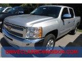 2013 Silver Ice Metallic Chevrolet Silverado 1500 LT Crew Cab 4x4 #70133349