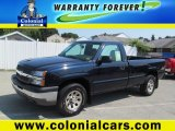 2005 Dark Blue Metallic Chevrolet Silverado 1500 Regular Cab 4x4 #70196190