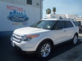 2013 White Platinum Tri-Coat Ford Explorer XLT #70195424