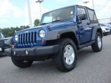 2010 Deep Water Blue Pearl Jeep Wrangler Sport 4x4 #70195413