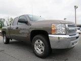 2012 Mocha Steel Metallic Chevrolet Silverado 1500 LT Extended Cab 4x4 #70195681