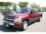 2009 Deep Ruby Red Metallic Chevrolet Silverado 1500 LT Extended Cab 4x4 #70195661