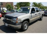 2003 Light Pewter Metallic Chevrolet Silverado 1500 LS Crew Cab 4x4 #70195656