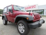 2012 Deep Cherry Red Crystal Pearl Jeep Wrangler Sport 4x4 #70195571