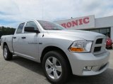 2012 Bright Silver Metallic Dodge Ram 1500 Express Quad Cab #70195568