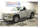 2012 Silver Ice Metallic Chevrolet Silverado 1500 LS Regular Cab 4x4 #70266227