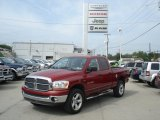 2006 Inferno Red Crystal Pearl Dodge Ram 1500 SLT Quad Cab 4x4 #70294328