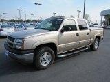 2005 Sandstone Metallic Chevrolet Silverado 1500 Z71 Crew Cab 4x4 #70311025