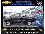 1999 Onyx Black Chevrolet Silverado 1500 LS Regular Cab 4x4 #70311159