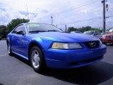 2000 Bright Atlantic Blue Metallic Ford Mustang V6 Coupe #70311098
