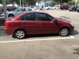 Wine Red Hyundai Accent in 2009