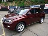 Claret Red Mica Lexus RX in 2013