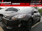 2012 Tuxedo Black Metallic Ford Focus Titanium Sedan #70352516
