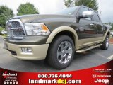 2012 Sagebrush Pearl Dodge Ram 1500 Laramie Longhorn Crew Cab 4x4 #70352500