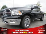 2012 Black Dodge Ram 1500 Big Horn Crew Cab #70352497