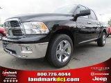 2012 Black Dodge Ram 1500 Big Horn Crew Cab #70352495
