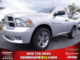 2012 Bright Silver Metallic Dodge Ram 1500 Express Regular Cab #70352488