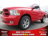 2012 Flame Red Dodge Ram 1500 Express Regular Cab #70352486