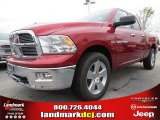 2012 Deep Cherry Red Crystal Pearl Dodge Ram 1500 Big Horn Quad Cab 4x4 #70352480