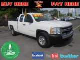 2008 Summit White Chevrolet Silverado 1500 Work Truck Extended Cab #70352870