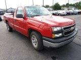 2006 Victory Red Chevrolet Silverado 1500 Work Truck Regular Cab #70407653