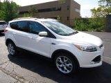 2013 White Platinum Metallic Tri-Coat Ford Escape Titanium 2.0L EcoBoost 4WD #70406898