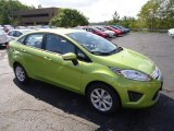 2013 Lime Squeeze Ford Fiesta SE Sedan #70406897