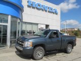 2007 Blue Granite Metallic Chevrolet Silverado 1500 LS Regular Cab 4x4 #70406896