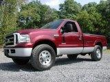 2005 Ford F250 Super Duty Dark Toreador Red Metallic