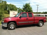 2004 Sport Red Metallic Chevrolet Silverado 1500 LS Extended Cab 4x4 #70407174