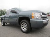2009 Blue Granite Metallic Chevrolet Silverado 1500 LT Crew Cab #70407148