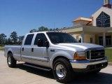 2000 Silver Metallic Ford F250 Super Duty XL Crew Cab #7022325