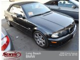 2002 Jet Black BMW 3 Series 325i Convertible #70407117