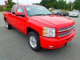 2012 Victory Red Chevrolet Silverado 1500 LT Extended Cab 4x4 #70407402