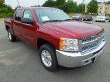 2013 Deep Ruby Metallic Chevrolet Silverado 1500 LT Crew Cab 4x4 #70407401