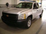 2012 Silver Ice Metallic Chevrolet Silverado 1500 Work Truck Extended Cab #70406678
