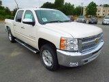 2012 White Diamond Tricoat Chevrolet Silverado 1500 LT Crew Cab 4x4 #70407400