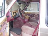 1990 Chevrolet Chevy Van G20 Passenger Conversion Burgundy Interior