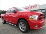 2012 Flame Red Dodge Ram 1500 Express Quad Cab #70407018