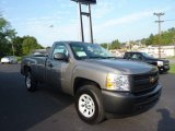 2013 Graystone Metallic Chevrolet Silverado 1500 Work Truck Regular Cab 4x4 #70474863