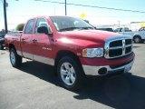 2004 Flame Red Dodge Ram 1500 SLT Quad Cab 4x4 #70474070