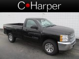2012 Black Chevrolet Silverado 1500 LT Regular Cab 4x4 #70474694