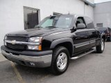 2004 Black Chevrolet Silverado 1500 Z71 Extended Cab 4x4 #70540289